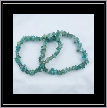 Apatite Chip Bracelet - Blue