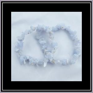 Blue Lace Agate Chip Bracelet