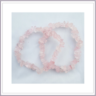 Rose Quartz Chip Bracelet