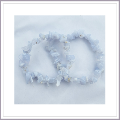 Blue Lace Agate Chip Bracelet