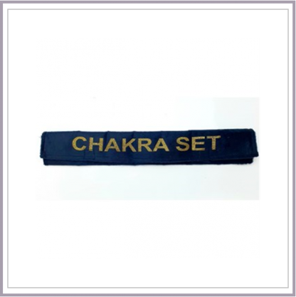 Oval chakra set in felt case
